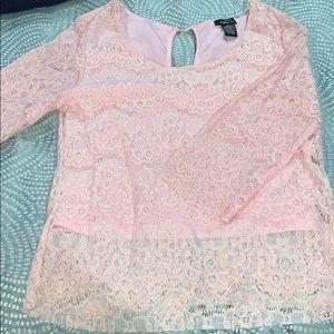 Rue 21 Pink Crochet Top